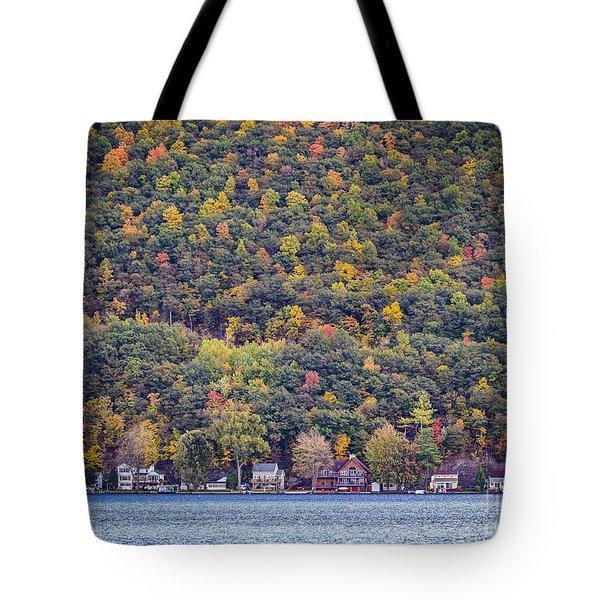 Autumn Waterside Tote Bag