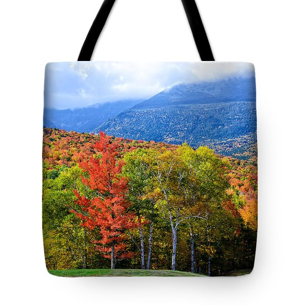 Tote Bag featuring the photograph Autumn White Mountains Nh by Michael Hubley