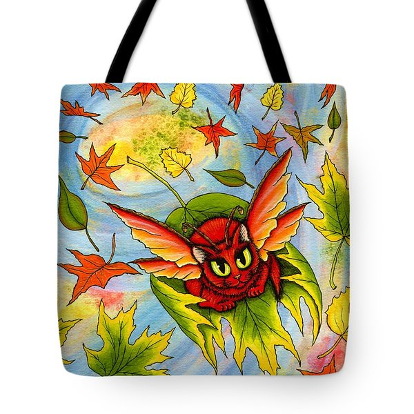 Autumn Winds Fairy Cat Tote Bag