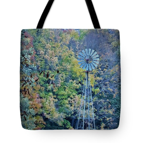Autumn Windwill Tote Bag
