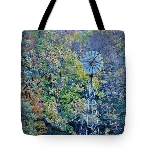 Autumn Windwill Tote Bag
