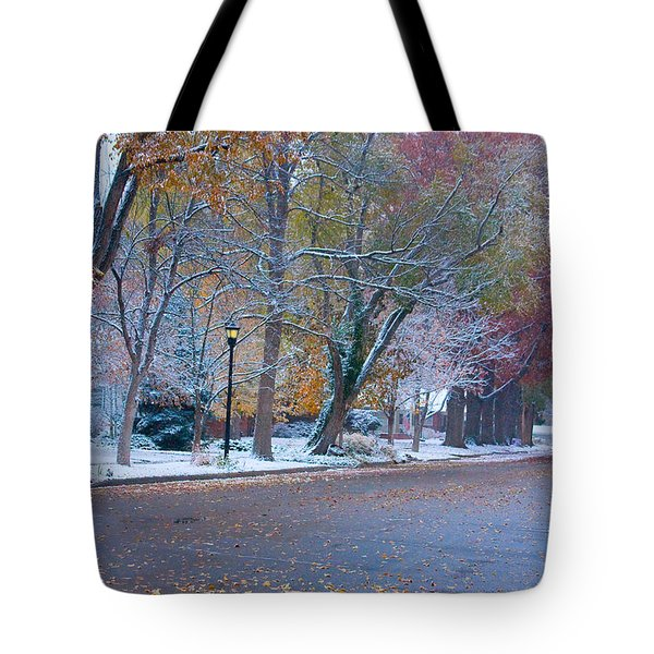 Autumn Winter Street Light Color Tote Bag by James BO  Insogna