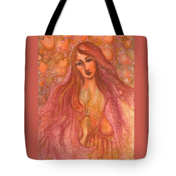 Autumn With Gold Flower Tote Bag by Rita Fetisov