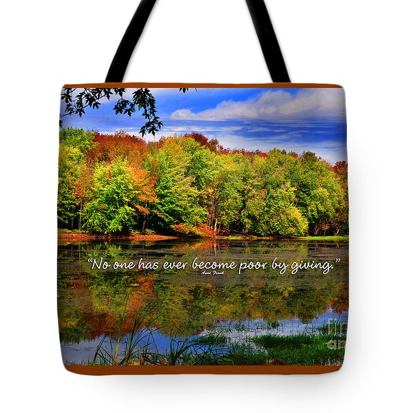 Autumn Wonders Giving Tote Bag by Diane E Berry