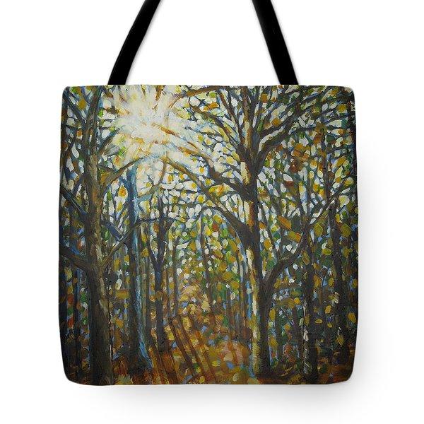 Autumn Wood Tote Bag