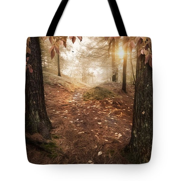 Tote Bag featuring the photograph Autumn Woodland by Robin-Lee Vieira