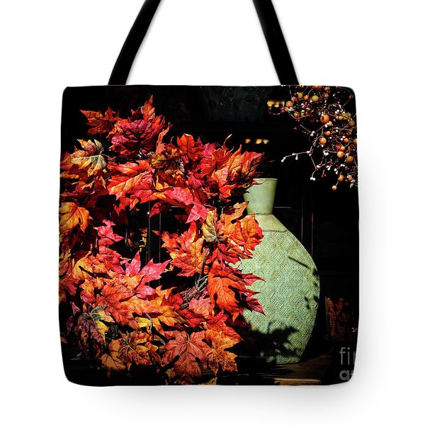 Thanksgiving Wreath Tote Bag by Charline Xia