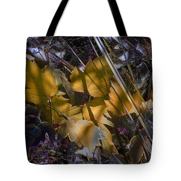 Tote Bag featuring the digital art Autumn Yellow by Stuart Turnbull