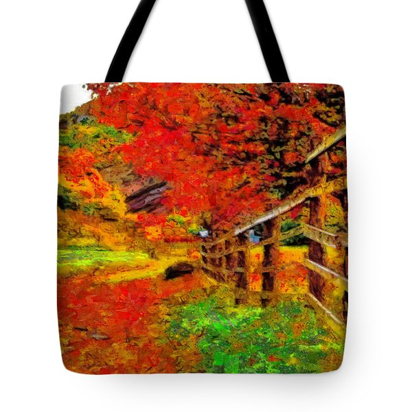Autumnal Blaze Of Glory Tote Bag