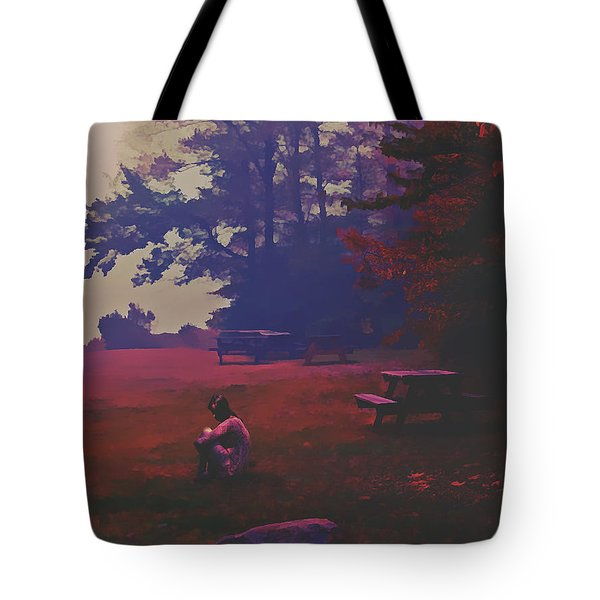 Tote Bag featuring the digital art Autumnal by Galen Valle