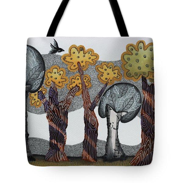 Autumnal Grove  Tote Bag by Graciela Bello
