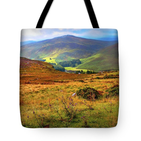 Tote Bag featuring the photograph Autumnal Hills. Wicklow. Ireland by Jenny Rainbow