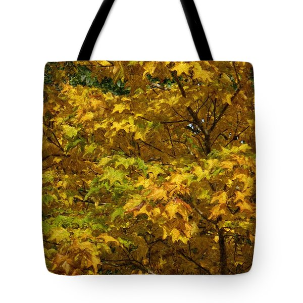 Autumnal Leaves And Trees 2 Tote Bag