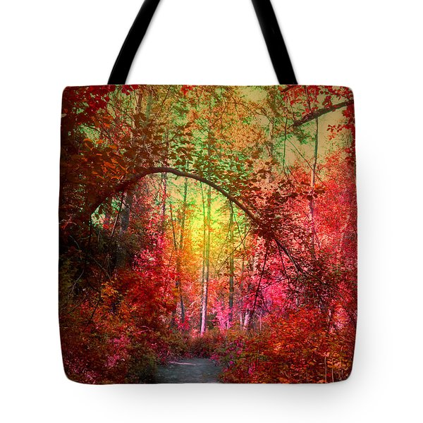 Autumn's Archway Tote Bag