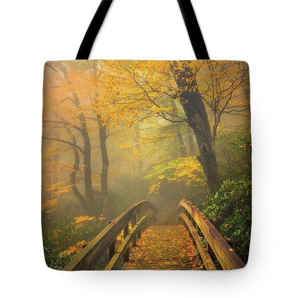 Autumn's Bridge To Heaven Tote Bag