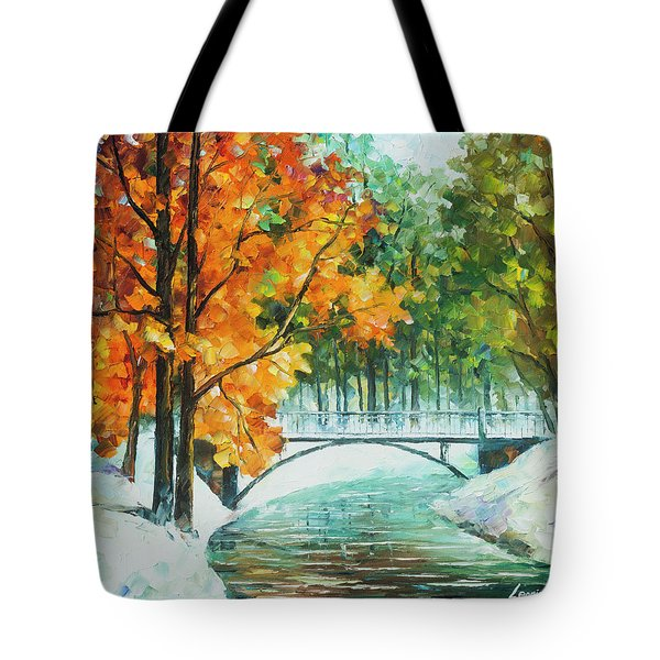 Autumn's End Tote Bag by Leonid Afremov