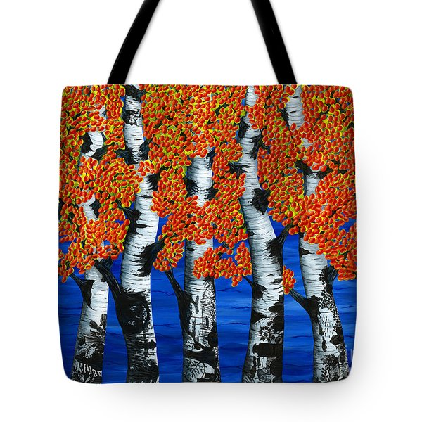 Autumns Farewell Party Tote Bag by Rebecca Parker