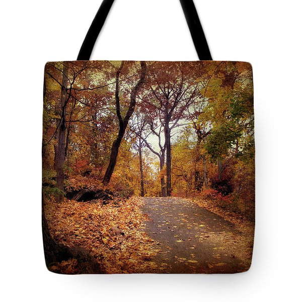 Autumn's Final Act Tote Bag by Jessica Jenney