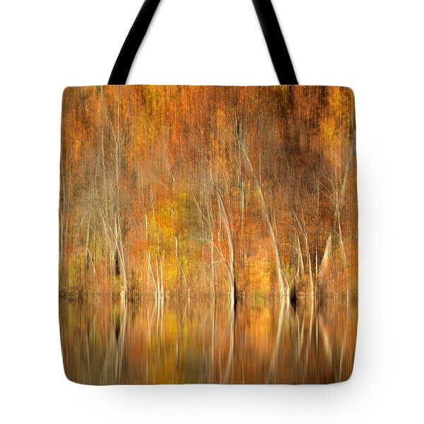 Tote Bag featuring the photograph Autumns Final Palette by Everet Regal