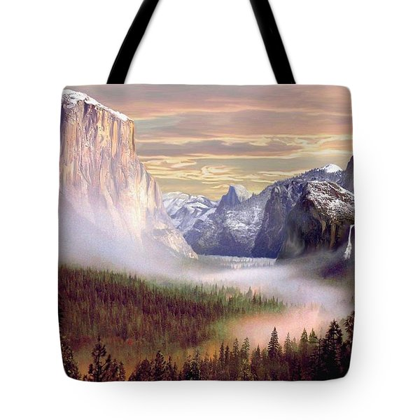 Autumns First Snowfall Tote Bag by Ron Chambers