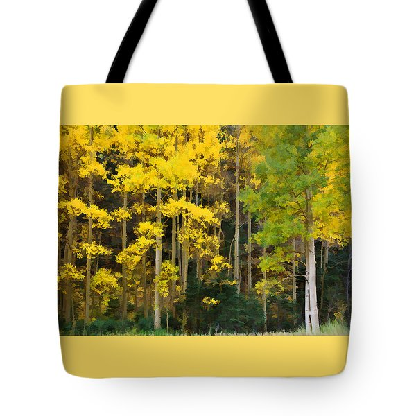 Tote Bag featuring the photograph Autumn's Gold by Diane Alexander