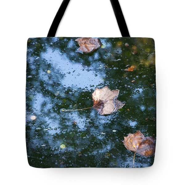 Tote Bag featuring the photograph Autumn's Here by Allen Carroll