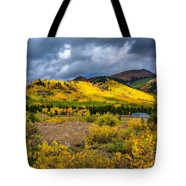 Tote Bag featuring the photograph Autumn's Smile by Bitter Buffalo Photography