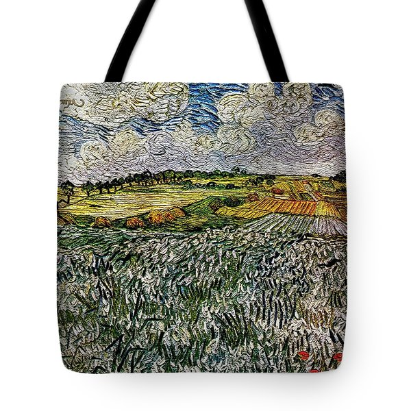 Landscape Auvers28 Tote Bag by Pemaro