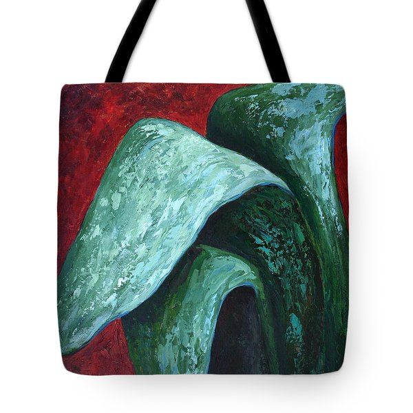 Tote Bag featuring the painting Av Leaves by Phyllis Howard