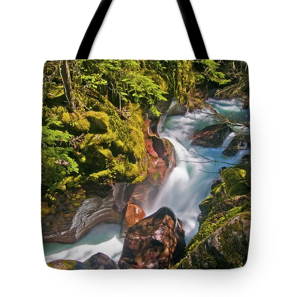 Tote Bag featuring the photograph Avalanche Gorge by Gary Lengyel