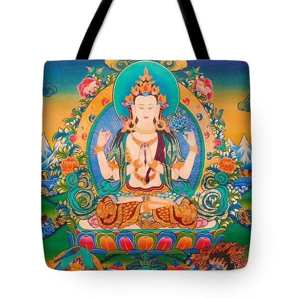 Four-armed Avalokiteshvara Tote Bag