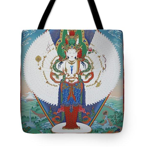 Avalokiteshvara Lord Of Compassion Tote Bag