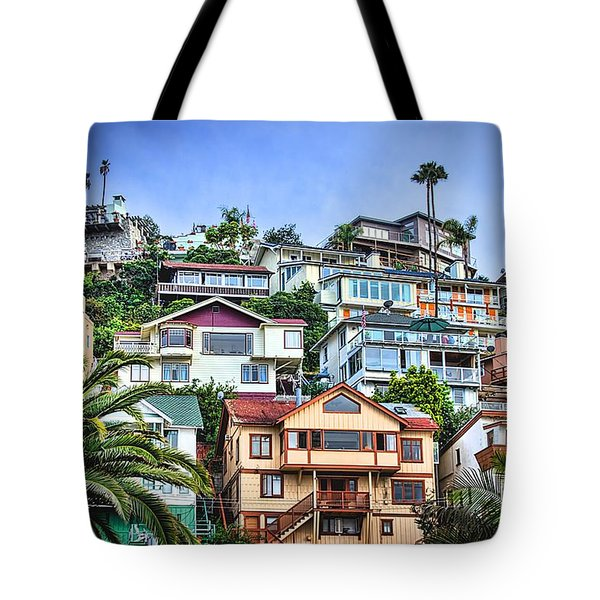 Avalon Hillside With Harbor View Tote Bag