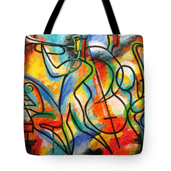 Avant-garde Jazz Tote Bag