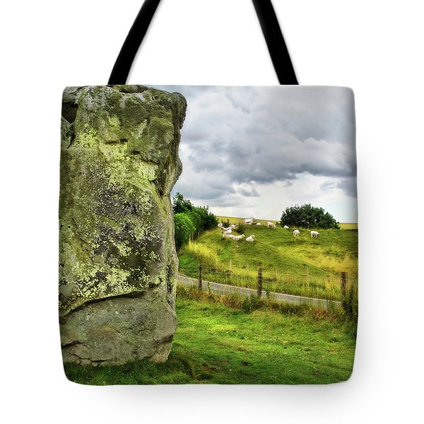 Avebury Standing Stone And Sheep Tote Bag