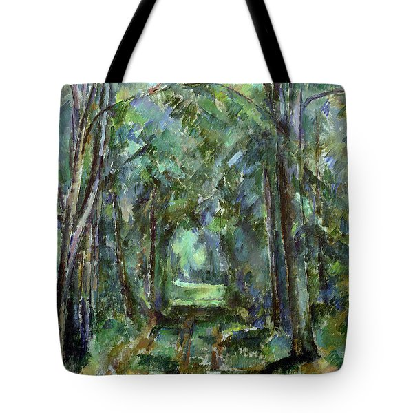 Avenue At Chantilly Tote Bag by Paul Cezanne