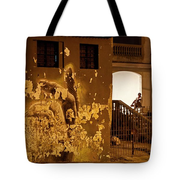 Tote Bag featuring the photograph Avenue De Los Presidentes Havana Cuba by Charles Harden
