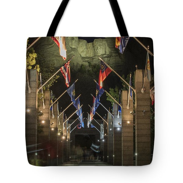 Avenue Of Flags Tote Bag