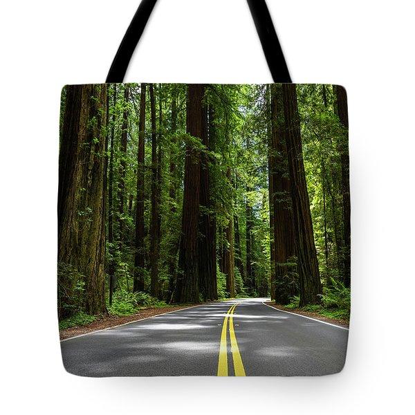 Avenue Of Giants Tote Bag