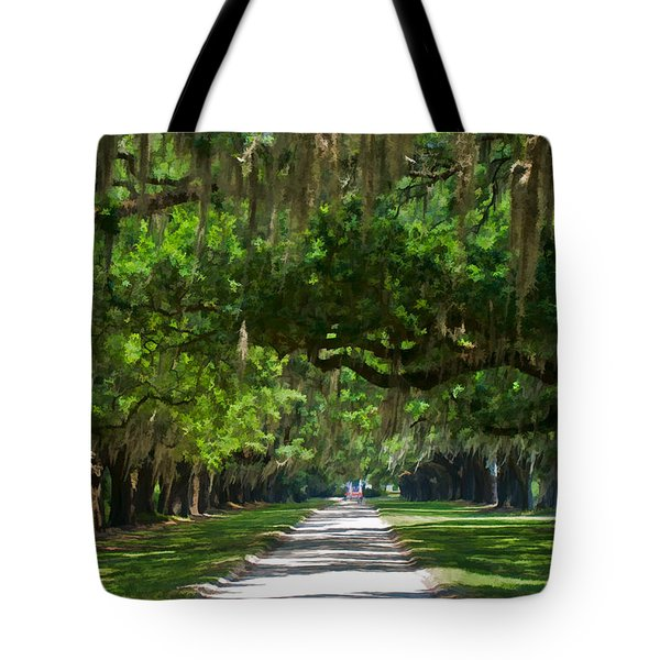 Avenue Of The Oaks At Boonville Plantation Tote Bag