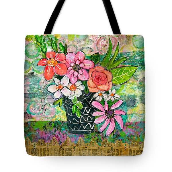 Avery Daisy Flower Tote Bag