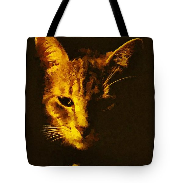 Tote Bag featuring the painting Avery by Lynne Jenkins