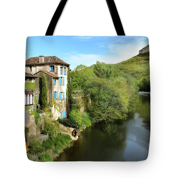 Aveyron River In Saint-antonin-noble-val Tote Bag by RicardMN Photography
