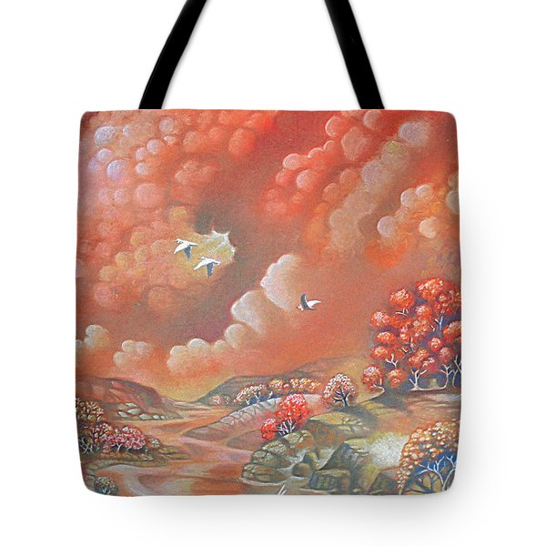 Avian Landscape Tote Bag
