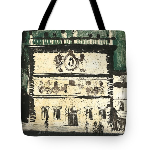 Tote Bag featuring the painting Avignon Historic Building by Martin Stankewitz