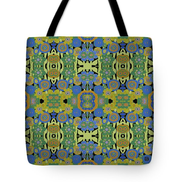 Avocado Blue Pattern Tote Bag