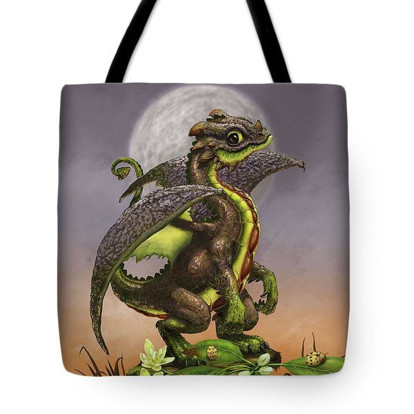 Tote Bag featuring the digital art Avocado Dragon by Stanley Morrison