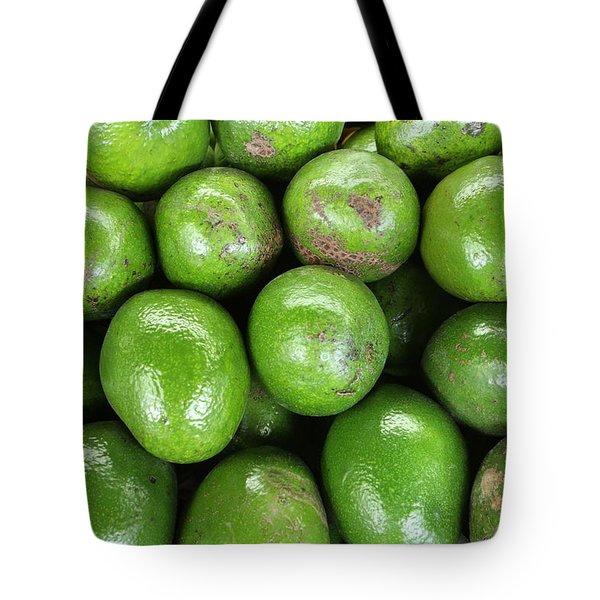 Avocados 243 Tote Bag by Michael Fryd