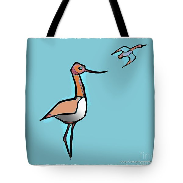Avocet Composition 3 Tote Bag by Art MacKay