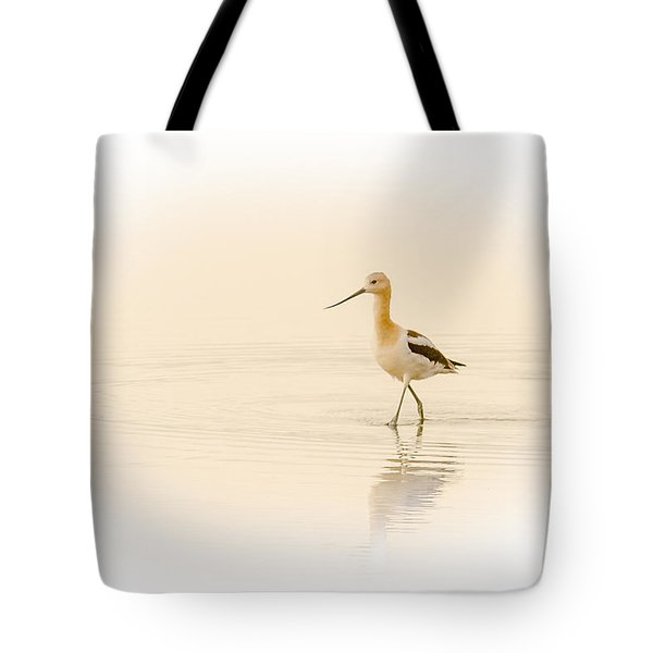 Tote Bag featuring the photograph Avocet Walk by Yeates Photography